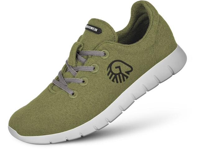 Giesswein Merino Wool Chaussures de running Homme, khaki